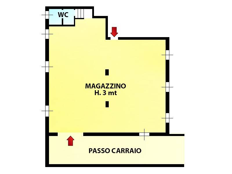 foto planimetria Magazzino in Vendita