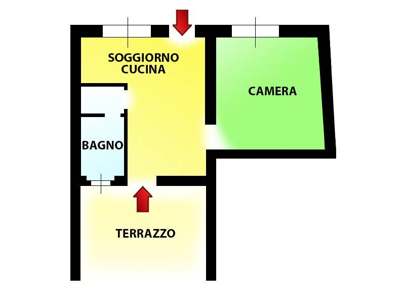 foto Planimetria Bilocale via Giuseppe Garibaldi, Novate Milanese