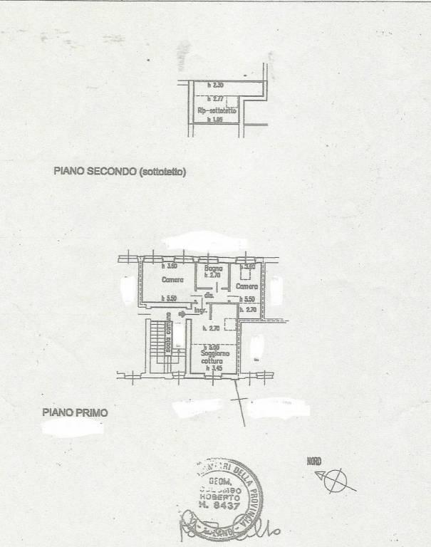 foto Planimetria 3-room flat excellent condition, first floor, Robecco sul Naviglio