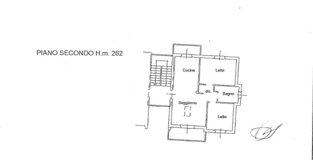 foto Planimetria 3-room flat via Madonnetta 35, Locate Varesino