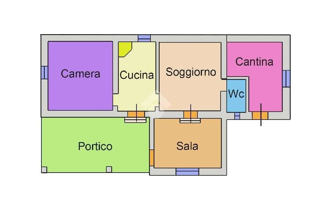 foto PLANIMETRIA Дом via sant'andrea, Collevecchio