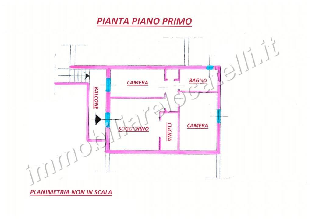 foto planimetria 3-room flat via Castello, Roncobello