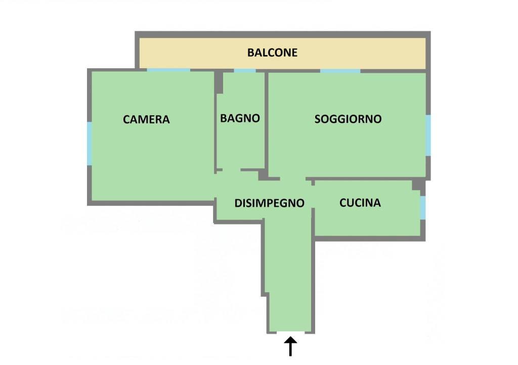 foto  2-room flat via Olgettina 1, Vimodrone