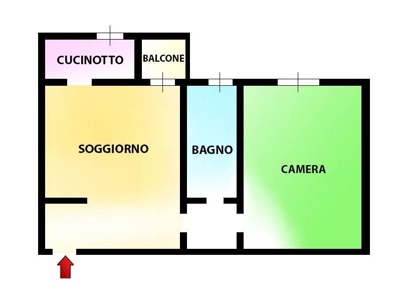 foto Planimetria Bilocale via Mario Greppi, Senago