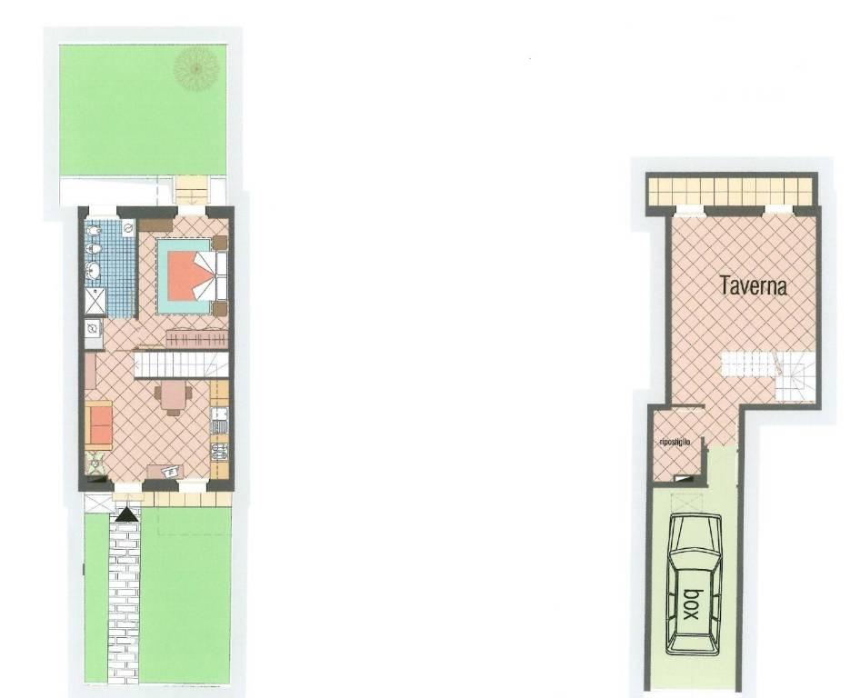 foto Pianta 2-room flat via Villoresi, Buscate