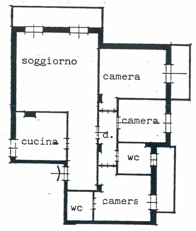 foto Piantina Четырехкомнатная квартира via Enrico Fermi, Cabiate