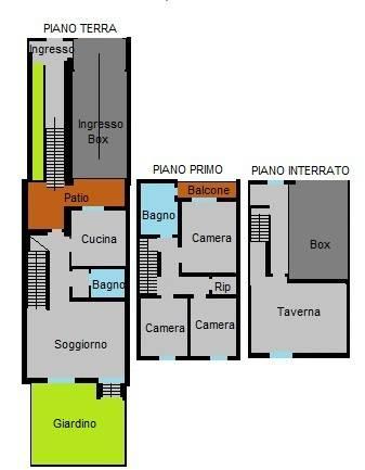 foto Planimetria Terraced house via Alessandro Manzoni 15, Colturano