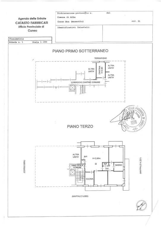 foto planimetria Apartment corso Bra 31, Alba
