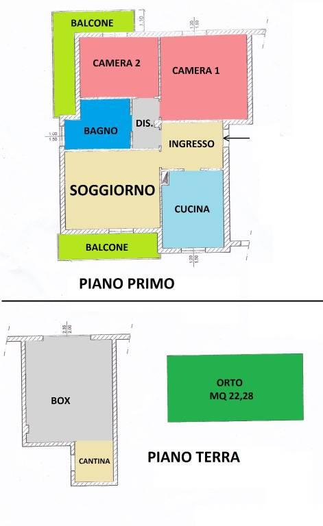 foto PLANIMETRIA 3-room flat good condition, mezzanine, Casaletto Ceredano