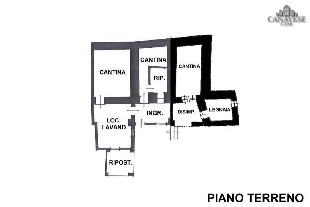 foto piantina Terratetto unifamiliare via Cervera 15, Colleretto Castelnuovo