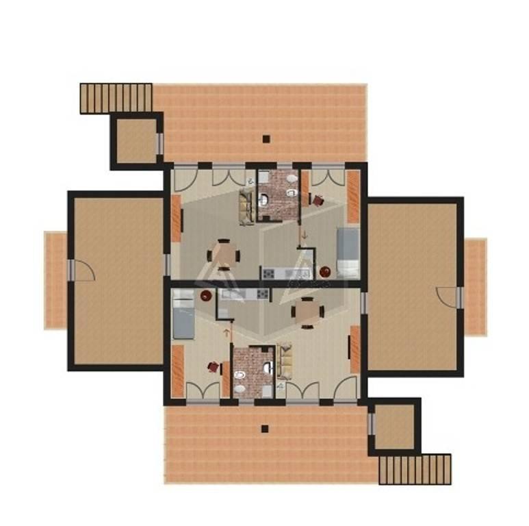 foto Planimetria Appartamento in villa via Adige, Ardea