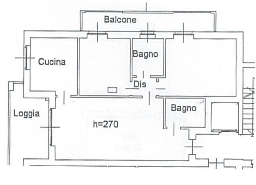foto PLANIMETRIA 3-room flat via Michelangelo Buonarroti 10, Pozzuolo Martesana