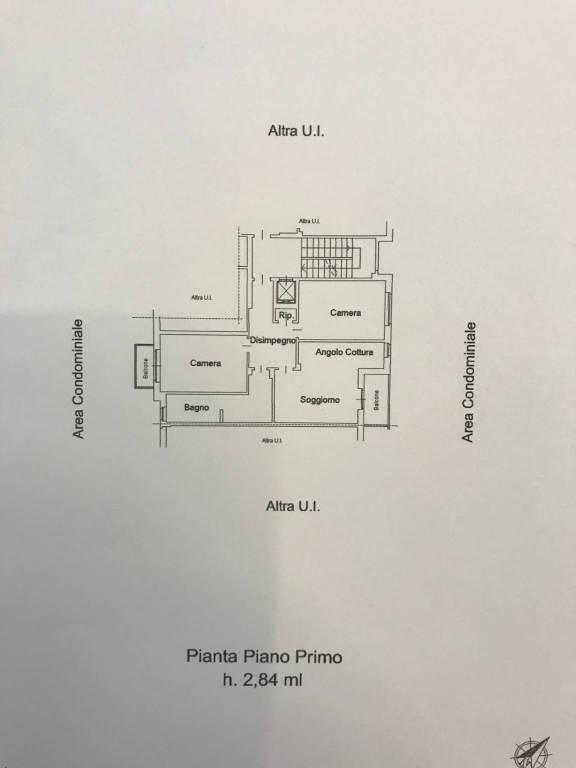 foto PLANIMETRIA ALLOGGIO 4-room flat via Oglianico 9, Rivarolo Canavese