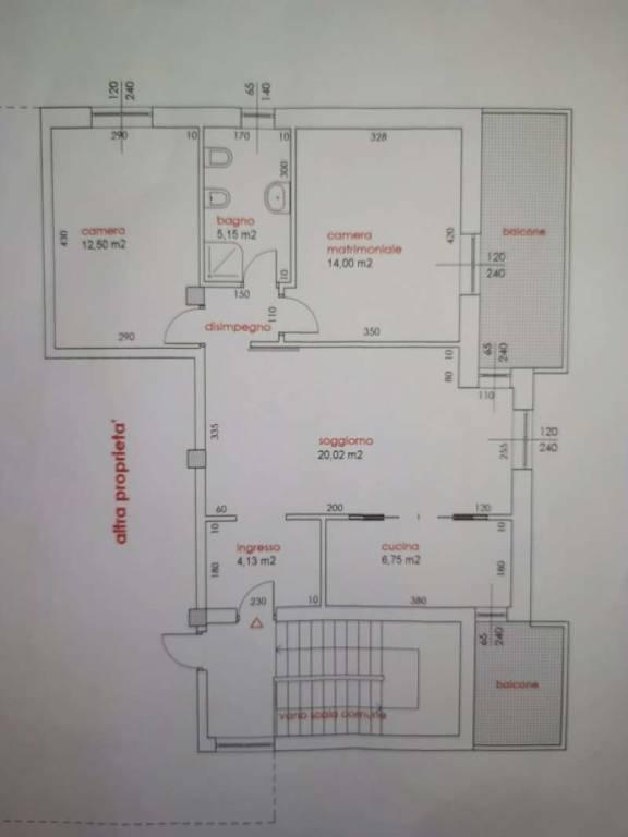 foto PLANIMETRIA 3-room flat via Ortelli, Anzano del Parco