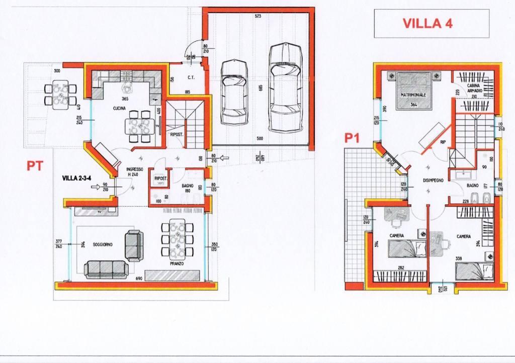 foto planimetria Villa unifamiliare via Adua, Samarate