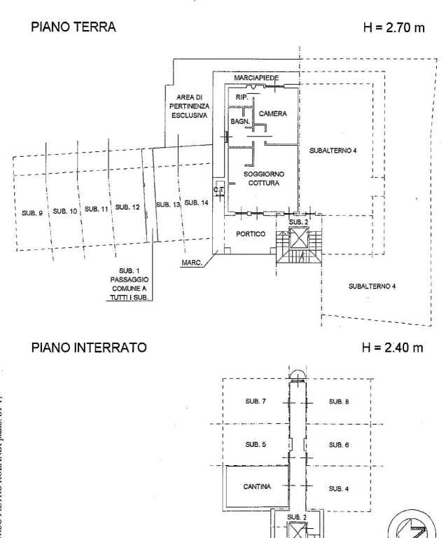 foto planimetria Bilocale corso Rolandi 165, Quarona