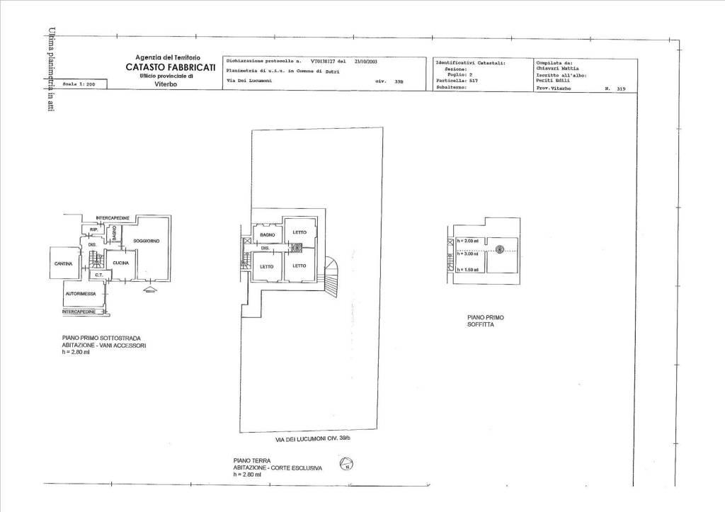 foto  Appartamento in villa, buono stato, 285 mq, Sutri