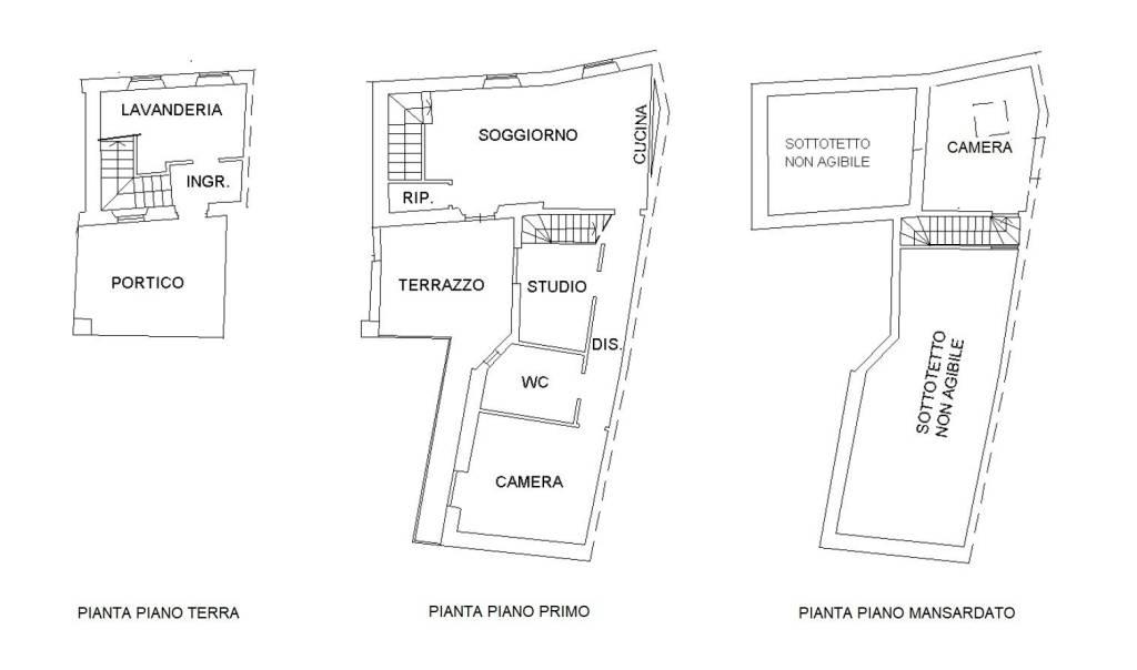 foto piantina 3-room flat via Cavour 9, Binago