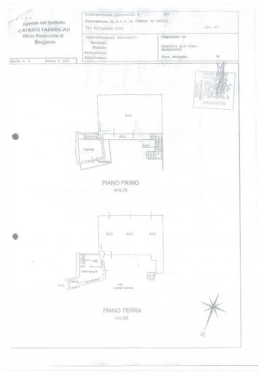 foto plani 2-room flat via Arciprete Rota 17, Lallio