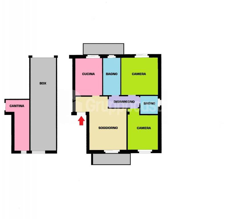 foto Planimetria 3-room flat via Vittorio Emanuele, Cuggiono