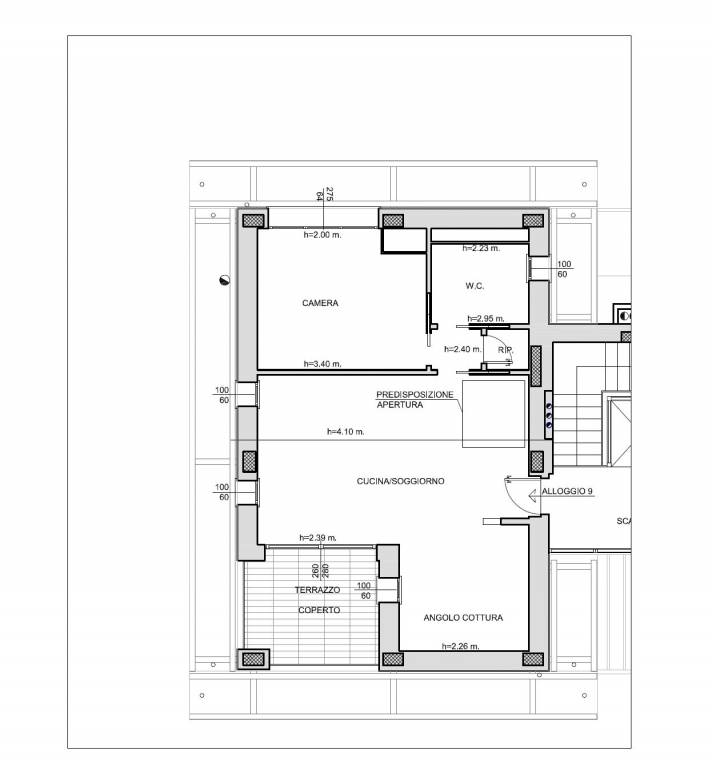 foto planimetria 2-room flat new, third floor, Mondovì
