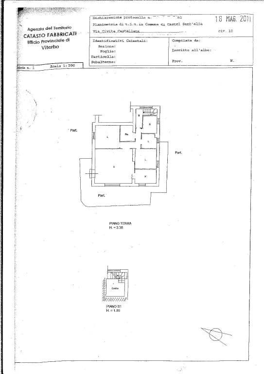 foto Planimetria 4-room flat via Vincenzo De Placidi, Castel Sant'Elia