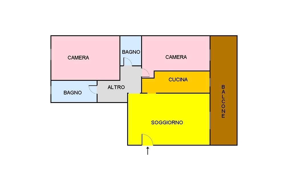 foto piantina 3-room flat via Monzoro 38, Cornaredo