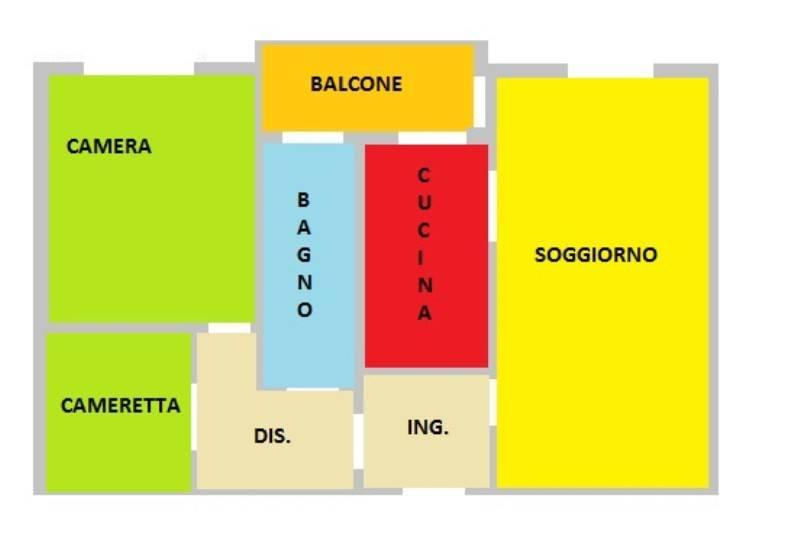 foto planimetria 3-room flat via Vincenzo Monti, Corsico