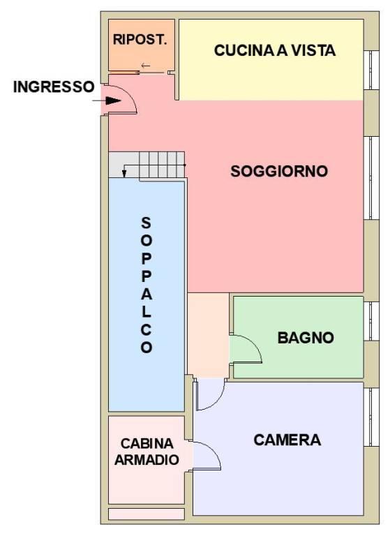 foto  3-room flat via Fratelli Cervi, Segrate