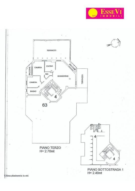 foto  Penthouse excellent condition, 223 sq.m., San Pellegrino Terme