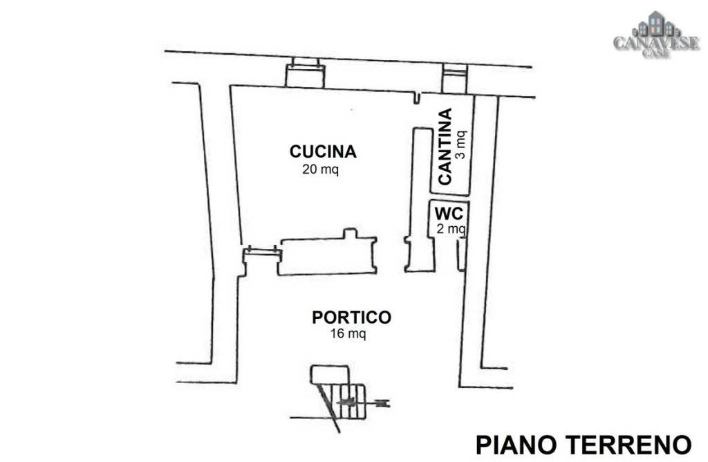 foto piantina Terratetto unifamiliare via Pietro Vola 2, Brosso