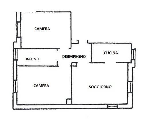 foto Piantina Трехкомнатная квартира via Cardinal Ferrari, Mariano Comense
