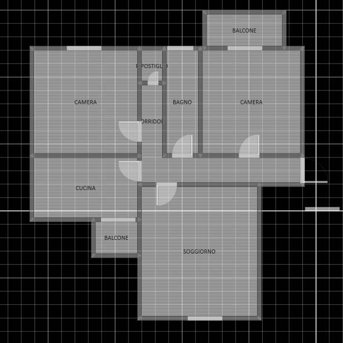 foto  Quadrilocale buono stato, terzo piano, Valdengo