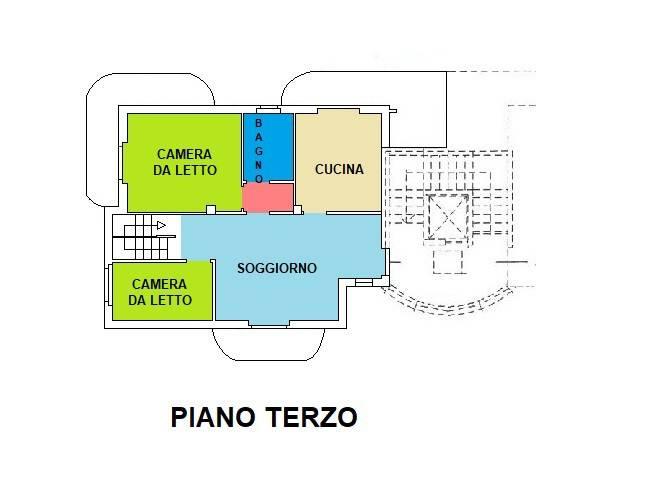 foto PianoTerzo Attico ottimo stato, 125 mq, Galliate