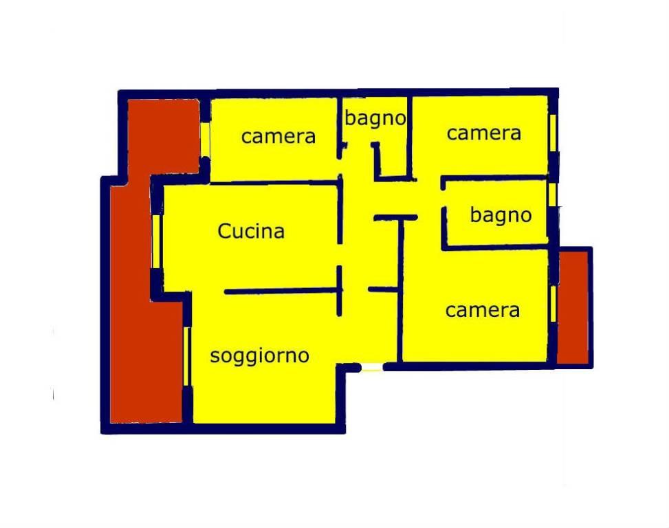 foto PLANIMETRIA 4-room flat via delle Primule, Genova