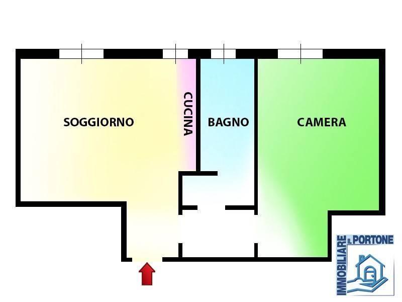 foto planimetria Bilocale via Antonio Gramsci 5, Novate Milanese