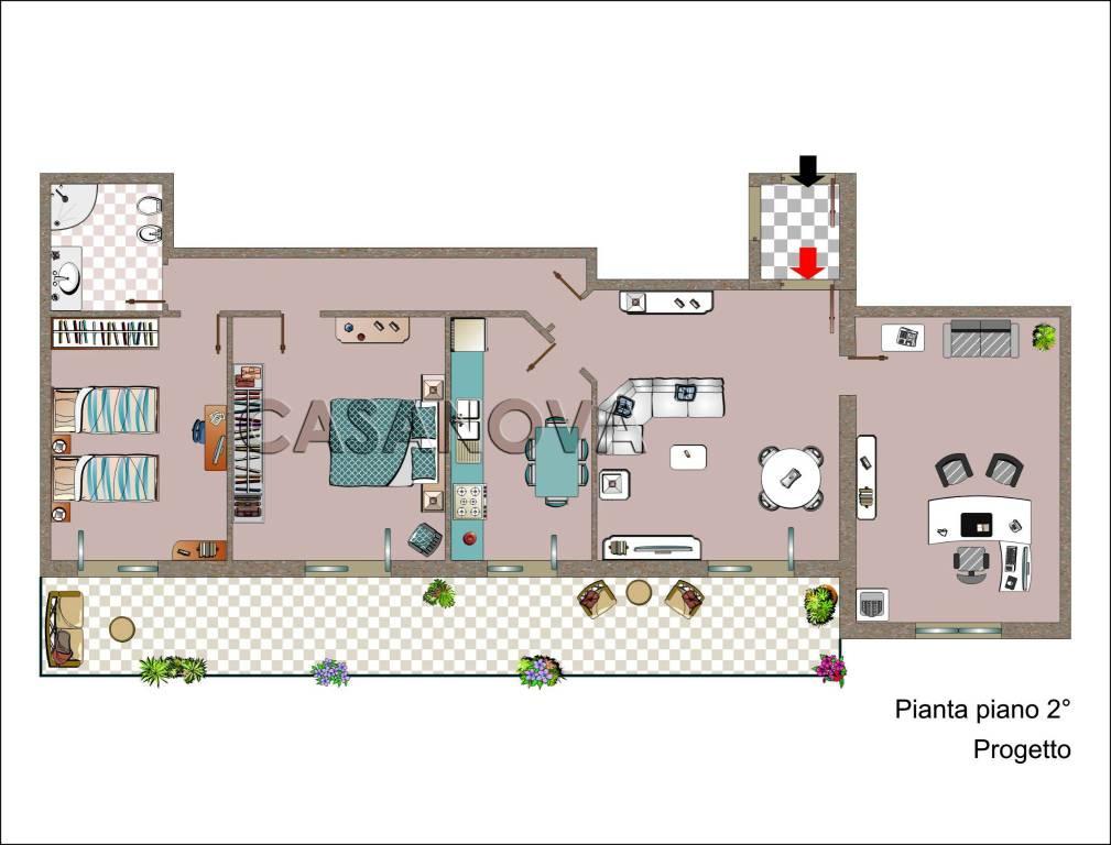 foto  4-room flat via Guglielmo Marconi 10, Meta