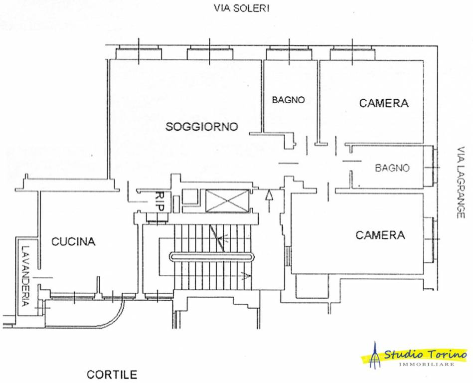 foto Planimetria Quadrilocale via Marcello Soleri 2, Torino