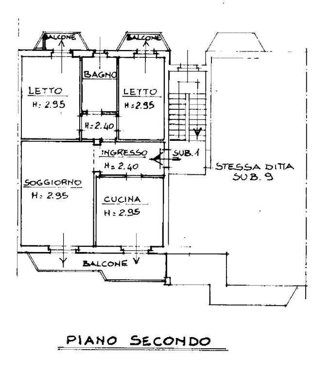 foto planimetria 3-room flat via Roma 61, Arluno