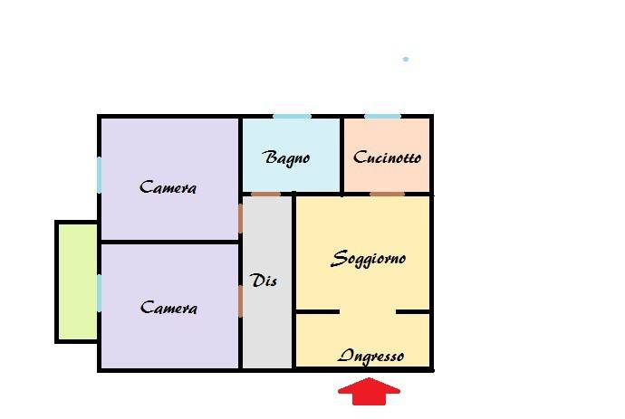 foto planimetria 3-room flat via Italia 123, Muggiò
