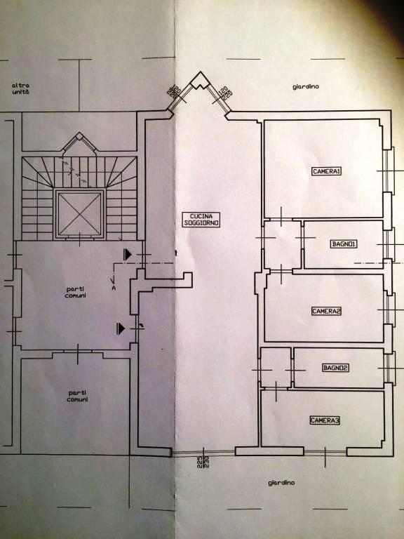 foto planimetria 4-room flat via Giacomo Matteotti 8, Cesano Boscone