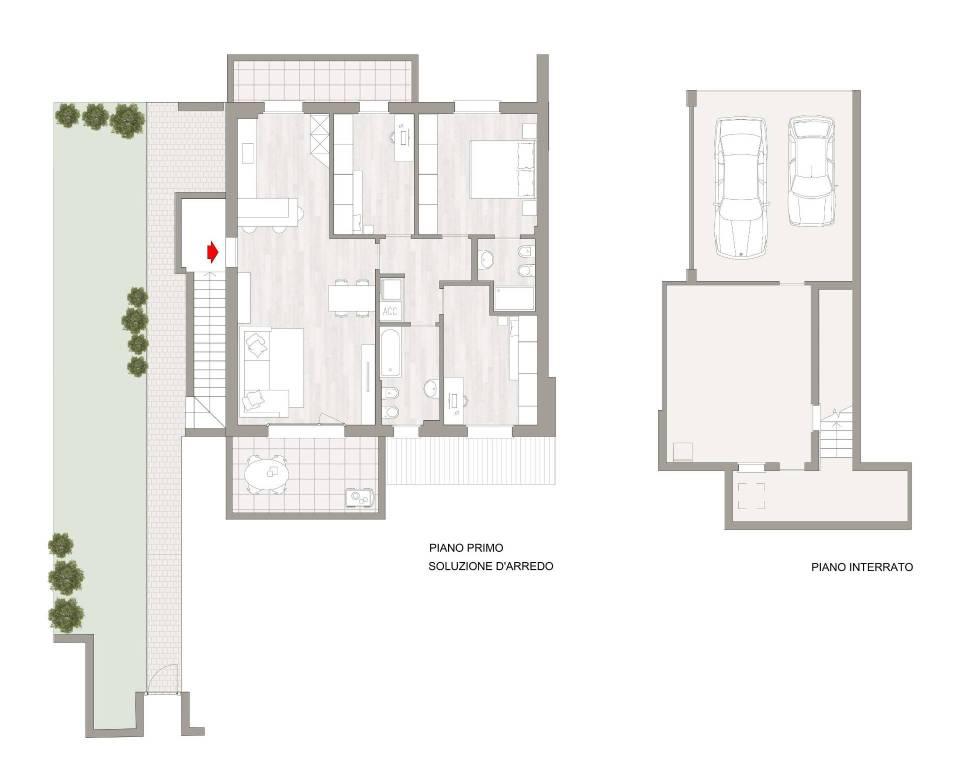 foto planimetria 4-room flat via Michelangelo da Caravaggio, Zanica