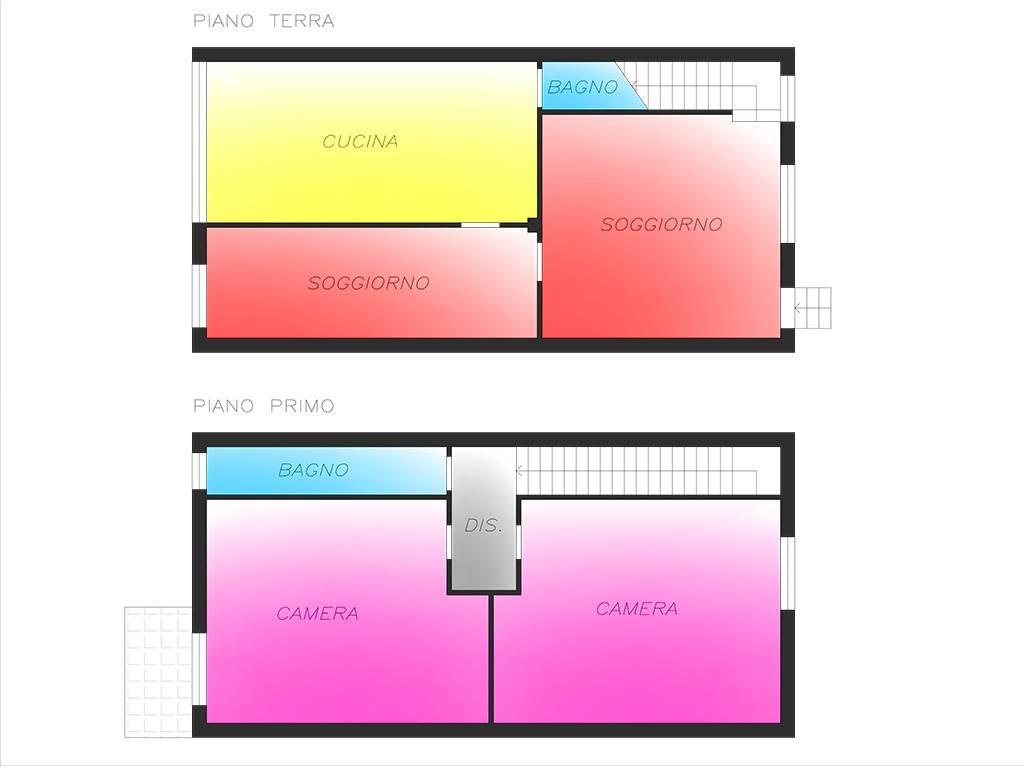 foto Planimetria 3-room flat via Alessandro Volta, Vernate