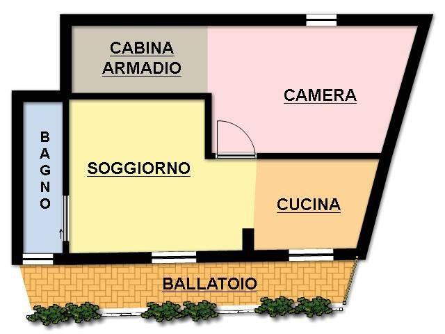 foto planimetria 2-room flat piazza vittorio emanuele, Bussero