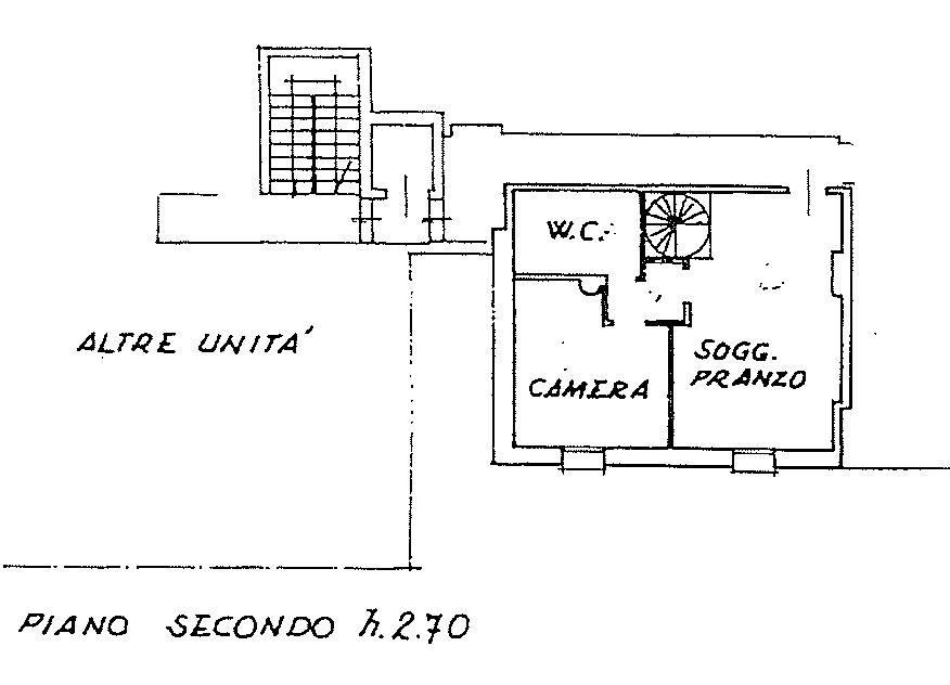 foto piano secondo 3-room flat via Giuseppe Garibaldi, Montebelluna