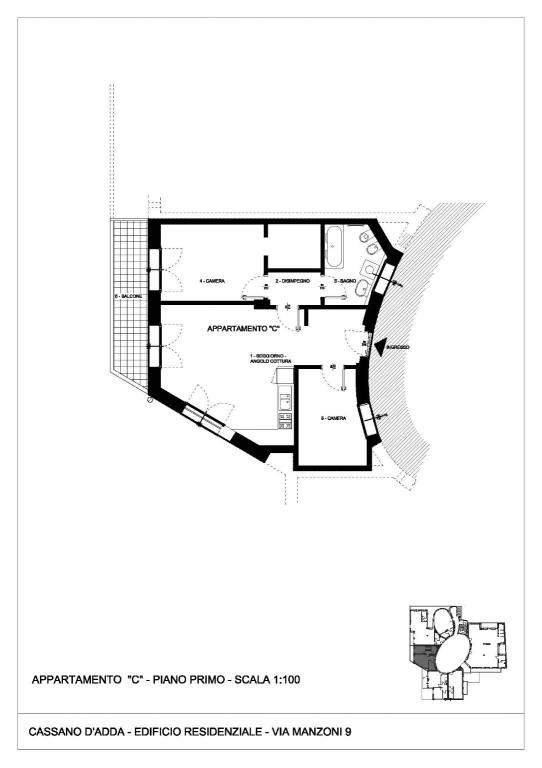 foto  3-room flat via San Martino, Treviglio