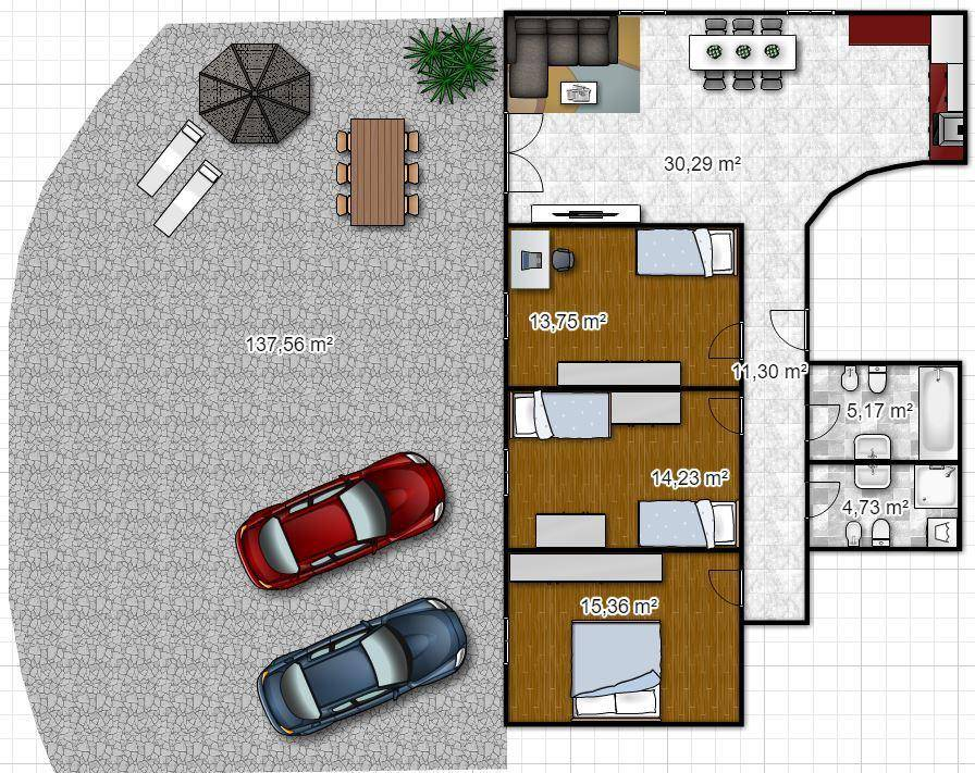 foto floorplanner Quadrilocale piano terra, Sover