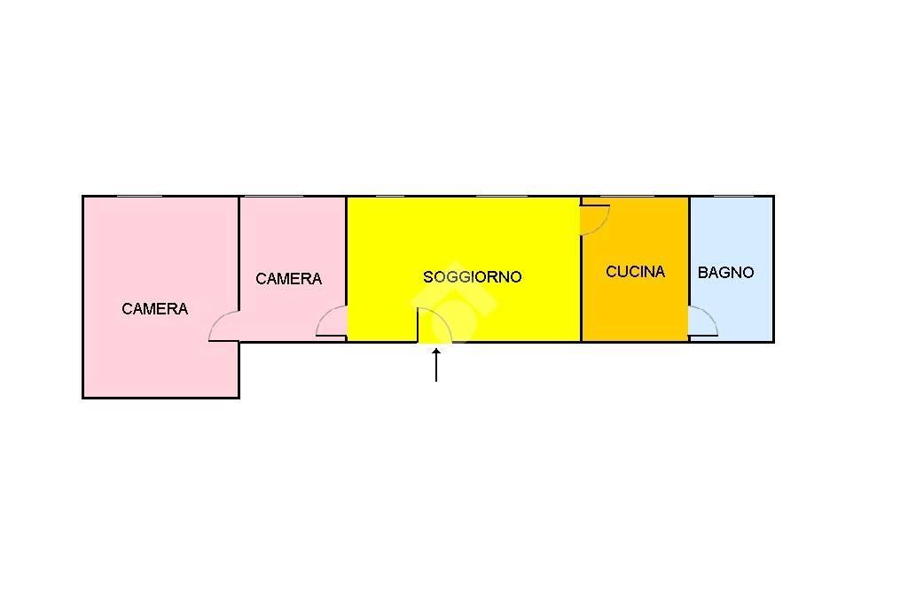foto planimetria 3-room flat via Filanda 18, Cornaredo