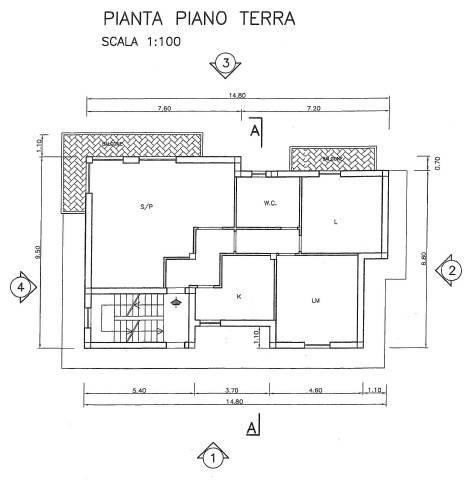 foto planimetria Villa unifamiliare Strada Provinciale Tiberina, Nazzano