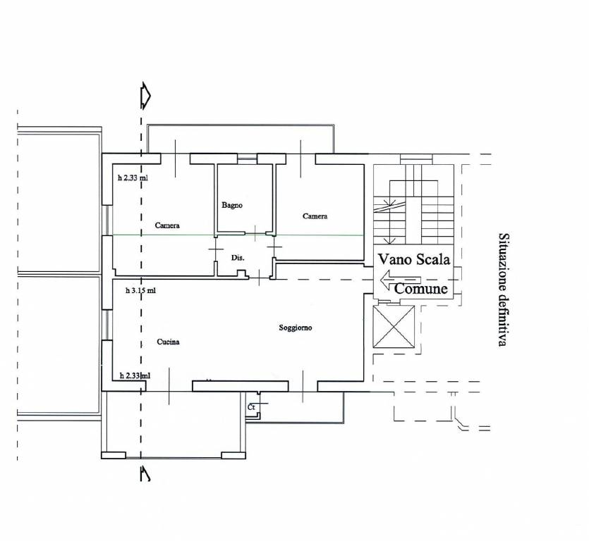 foto planimetria 3-room flat excellent condition, third floor, Mondovì